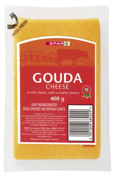 vacuum packed gouda cheese