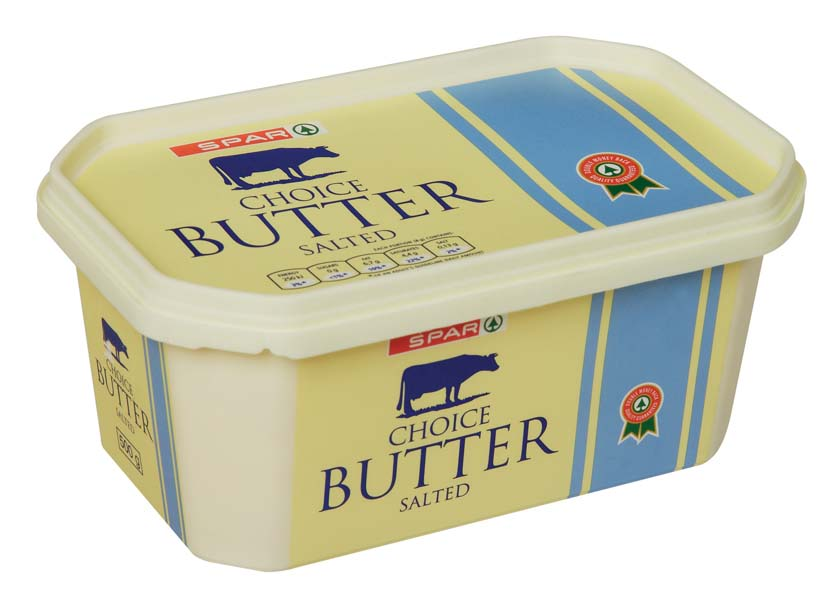 butter in a tub