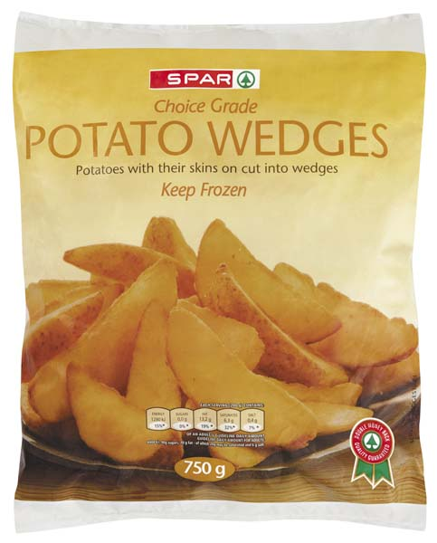 frozen potato wedges
