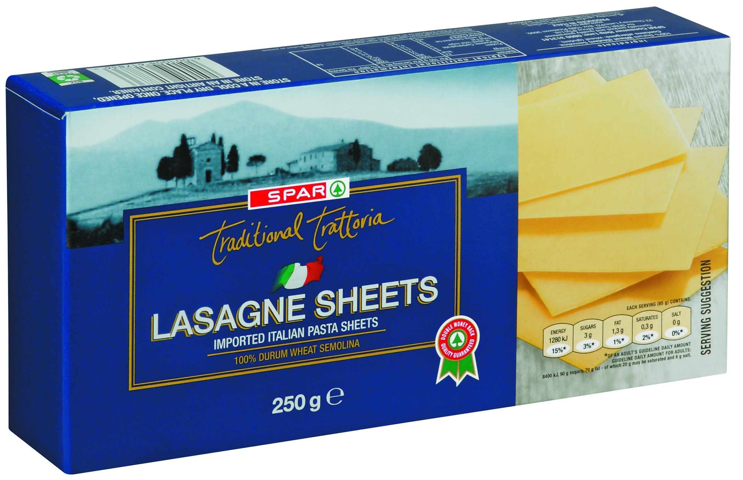 traditional trattoria lasagne sheets