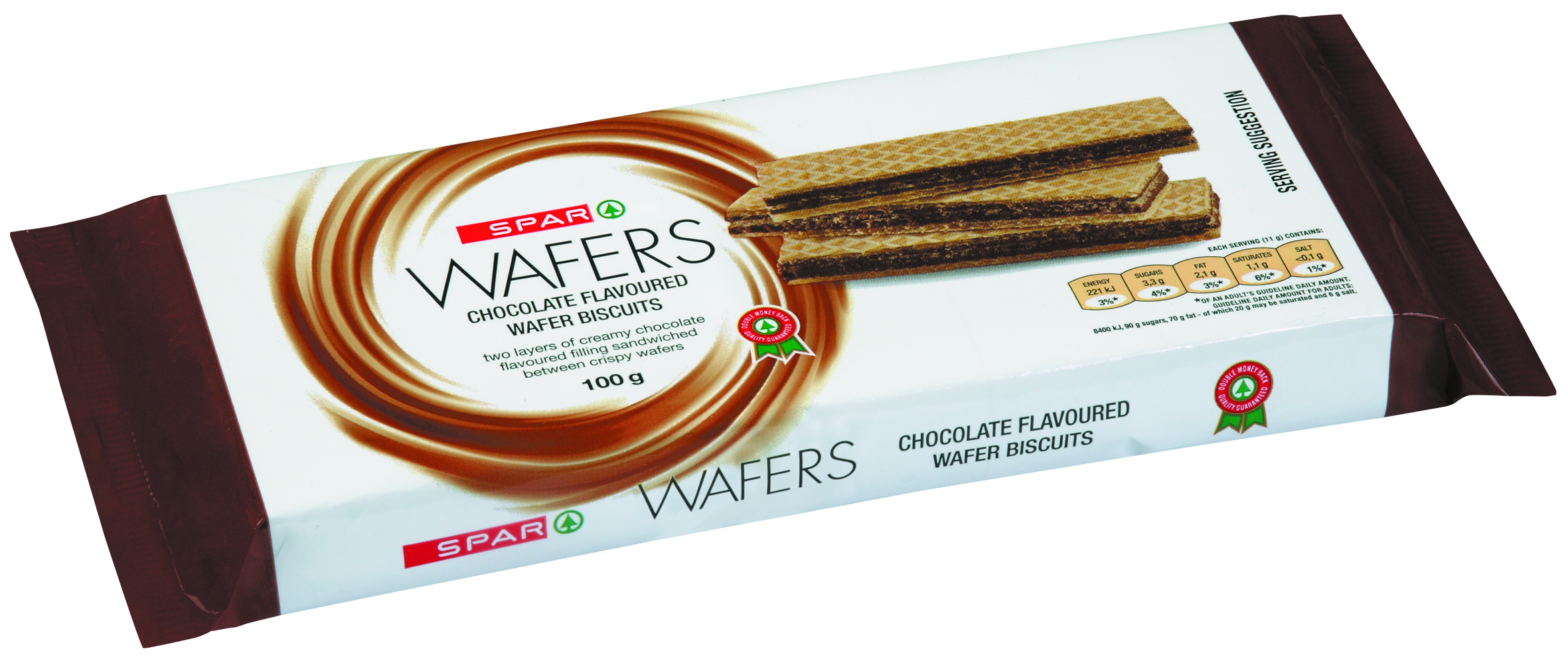 wafer biscuits - chocolate flavoured