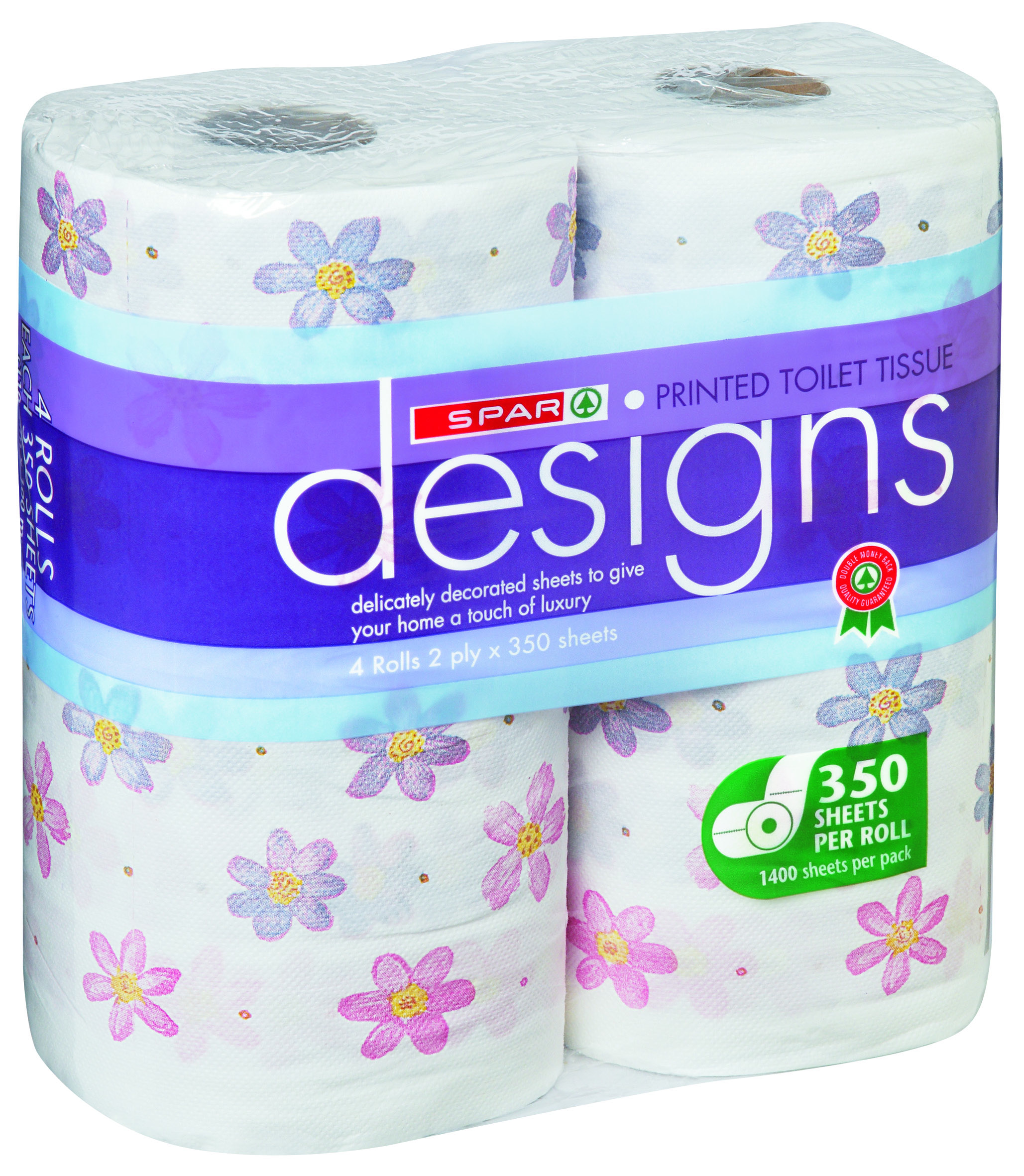 Toilet Tissue Printed Floral 2 Ply