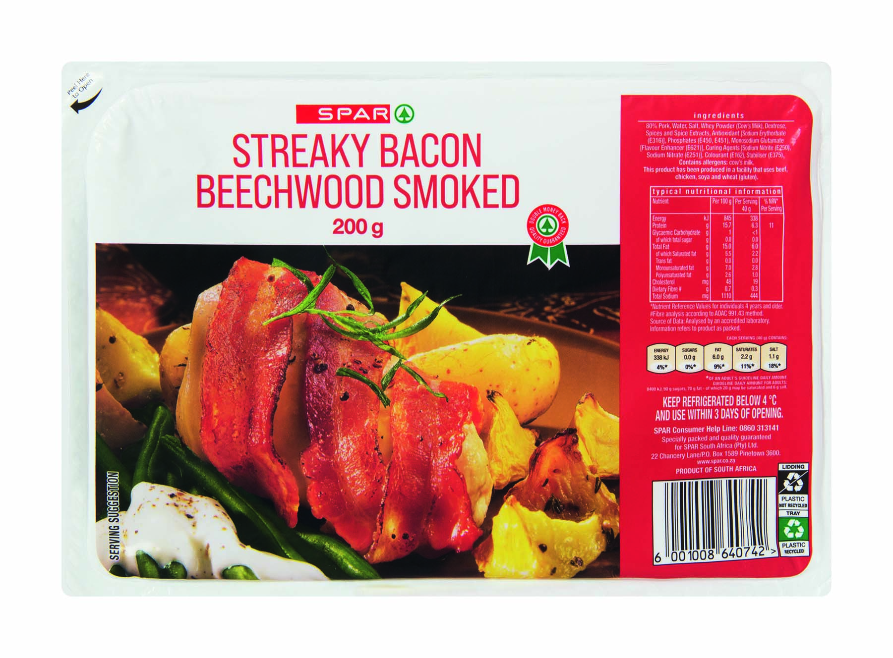 streaky bacon beechwood smoked