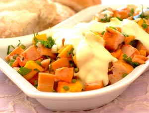 smoked chicken and mango salad an elegant fruity and crunchy salad ...